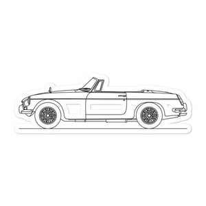 MG MGB Roadster Sticker - Artlines Design