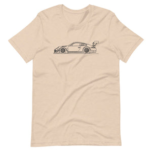 Porsche 911 997.2 GT3-R T-shirt Heather Dust - Artlines Design