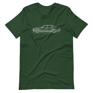 BMW E32 750iL T-shirt Forest - Artlines Design