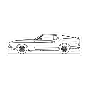 Ford Mustang Mach 1 Sticker - Artlines Design