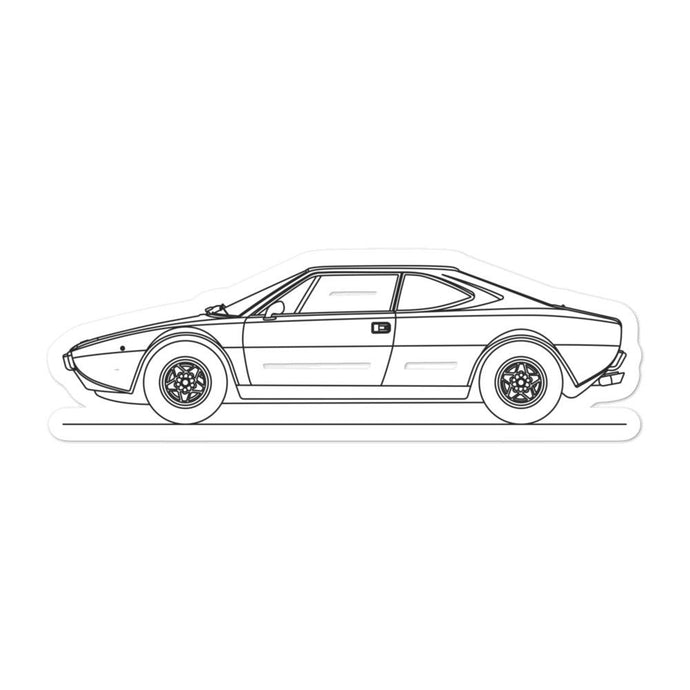 Ferrari Dino 308 GT Sticker - Artlines Design