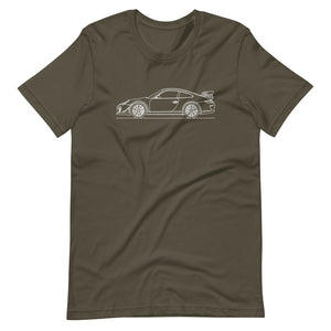 Porsche 911 997.2 GT3 RS T-shirt Army - Artlines Design