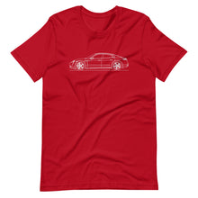 Load image into Gallery viewer, Porsche Taycan Turbo S T-shirt Red - Artlines Design