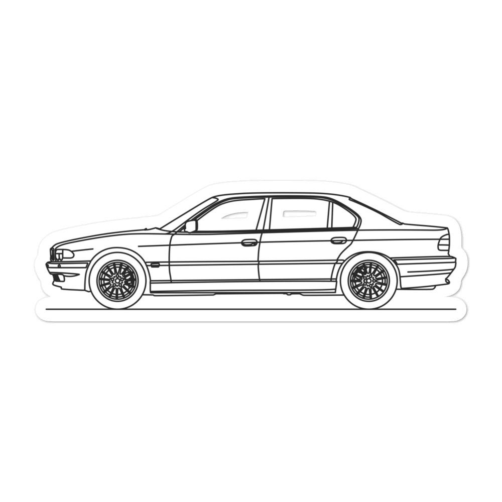 BMW E38 750i Sticker - Artlines Design