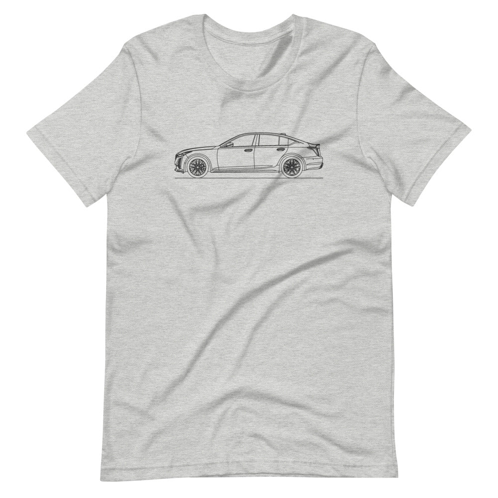 Cadillac CT5-V T-shirt Athletic Heather - Artlines Design