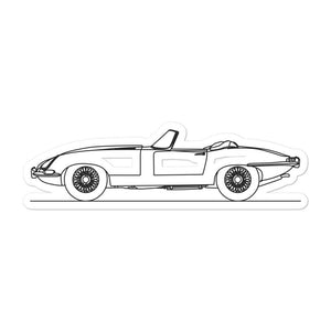Jaguar E-Type Sticker - Artlines Design