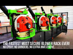 The Xtreme Pro Series Backpack Blower Rack Requires Minimal Assembly