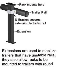 "EA014-14"" Extension - TrailerRacks.com"