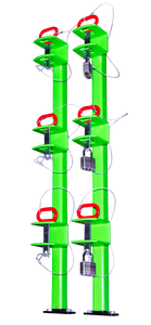 LB012-Three Place Classic Series Trimmer Rack (Open Trailers) - TrailerRacks.com