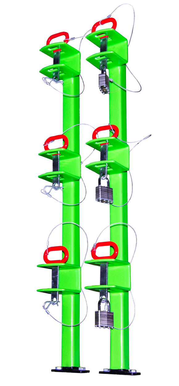 LB012-Three Place Classic Series Trimmer Rack (Open Trailers)