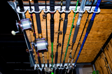 FD011-Piranha Overhead/Wall Mount Fishing Rod Rack - TrailerRacks.com
