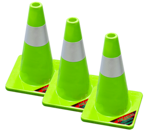 SC018-Pro Series 18 inch Safety Cones (3 Pack) - TrailerRacks.com