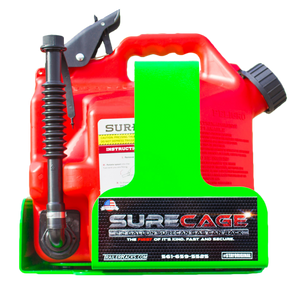 BL043-SureCage 2.2 Gallon Lockable SureCan Gas Can Rack