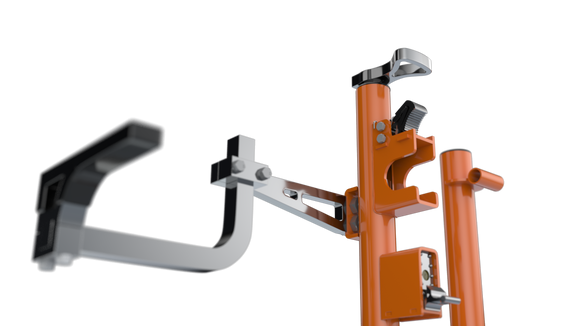 XB103(ORANGE)-Xtreme Pro Series Three Position Trimmer Rack LIMITED EDITION (Fits Open/Enclosed Trailers)