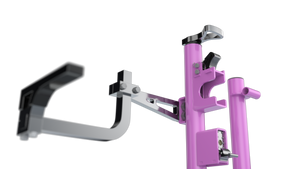 XB103(PINK)- Xtreme Pro Series Three Position Trimmer Rack LIMITED EDITION (FOR OPEN/ENCLOSED TRAILERS)