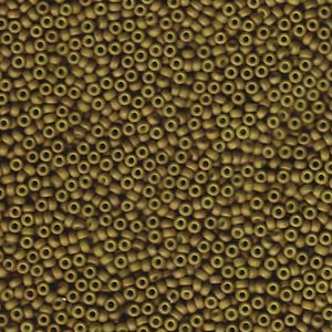 11/0 JAPANESE SEEDBEADS 10GM FANCY FROSTED YELLOW-GREEN