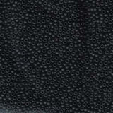 11/0 JAPANESE SEEDBEADS  10GMMATTE BLACK