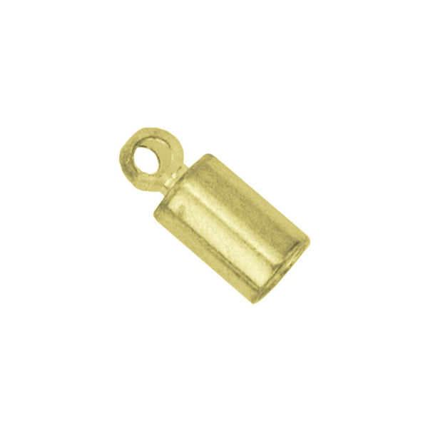 Cord Ends, Heavy, 1.8 mm, Gold Color, 5 pc