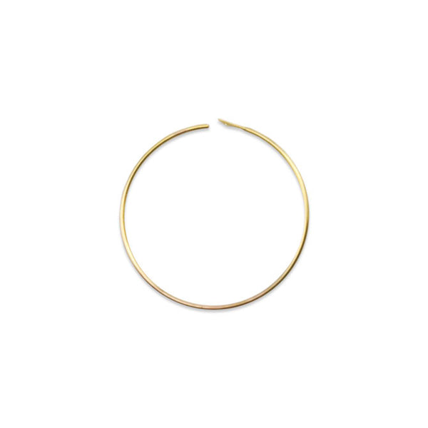 Ear Wires, Bead Hoop, 25 mm (.984 in), Gold Color, 12 pc