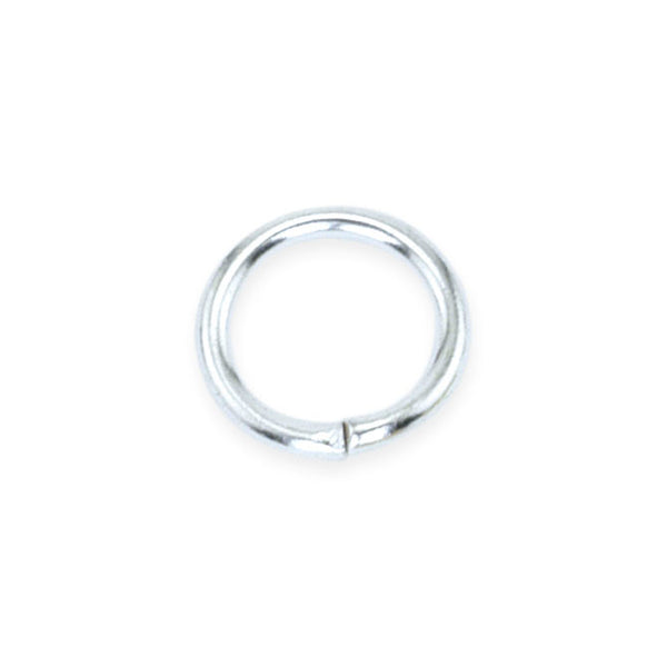 Jump Rings, 10 mm (.4 in), Silver Plated, 144 pc