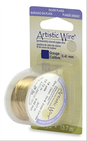 Artistic Wire, 24 Gauge (.51mm), Silver Plated, Gold Color, 10 yd (9.1 m)