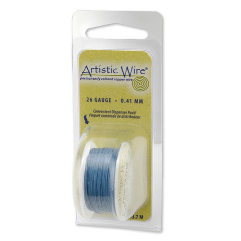 Artistic Wire, 22 Gauge (.64 mm), Powder Blue, 8 yd (7.3 m)