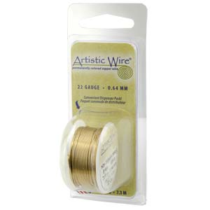 Artistic Wire, 18 Gauge (1.0 mm), Tarnish Resistant Brass, 4 yd (3.6 m)