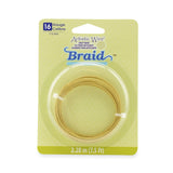 Artistic Wire, 16 Gauge (1.3 mm), Braid, Round, Tarnish Resistant Brass, 7.5 ft (2.29 m)