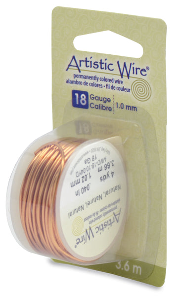 Artistic Wire, 18 Gauge (1.0 mm), Natural, 4 yd (3.6 m)