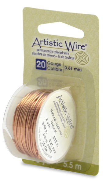 Artistic Wire, 20 Gauge (.81 mm), Natural, 6 yd (5.5 m)