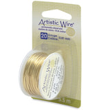 Artistic Wire, 20 Gauge (.81 mm), Tarnish Resistant Brass, 6 yd (5.5 m)