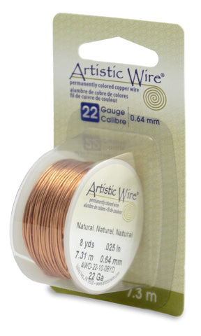 Artistic Wire, 22 Gauge (.64 mm), Natural, 8 yd (7.3 m)