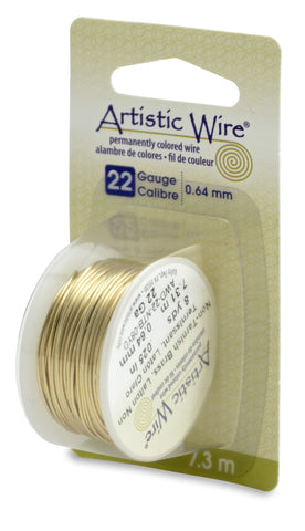 Artistic Wire, 22 Gauge (.64 mm), Tarnish Resistant Brass, 8 yd (7.3 m)