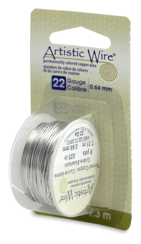Artistic Wire, 22 Gauge (.64 mm), Tinned Copper, 8 yd (7.3 m)