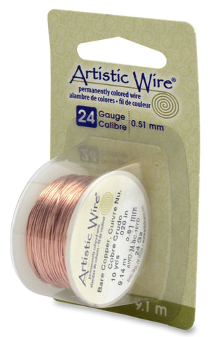 Artistic Wire, 24 Gauge (.51 mm), Bare Copper, 10 yd (9.1 m)