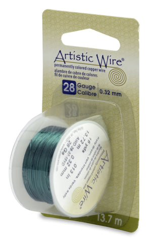 Artistic Wire, 28 Gauge (.32 mm), Kelly Green, 15 yd (13.7 m)