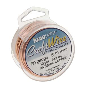 CRAFT WIRE 24GA ROUND 20YD SPL NATURAL COPPER