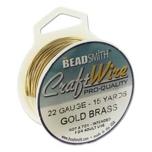CRAFT WIRE 22GA ROUND 15YD SPL BARE GOLD BRASS