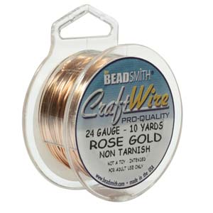 CRAFT WIRE 24GA ROUND 10YD SPL ROSE GOLD