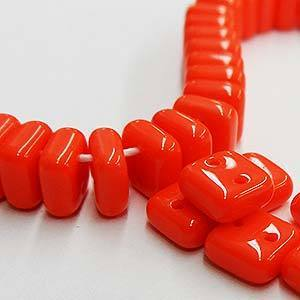 Chexx 6 mm 2 Hole Beads-Coral
