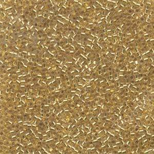 11/0 DELICA BEAD LINED GOLD 24KT APRX 7.2GM