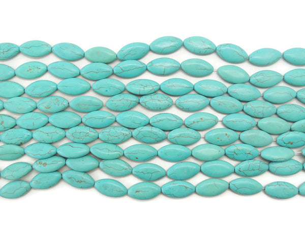 TurquoiseDyedHowliteOval16x30mm