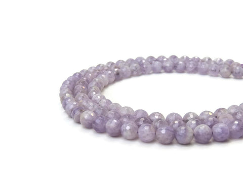 Amethyst Round Faceted Gemstone Beads 12mm (33pcs) AB Grade