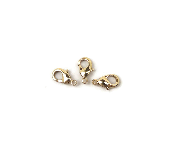 ALMA BEADS Gold Plated Lobster Clasps 10 mm 20 pcs