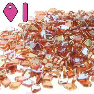 DRAGON SCALE BEAD 1.5X5MM 10 GM CRY ORANGE RAINBOW