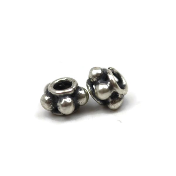 Bali Bead Sterling Silver Spacer 3.5 x 5.5 mm