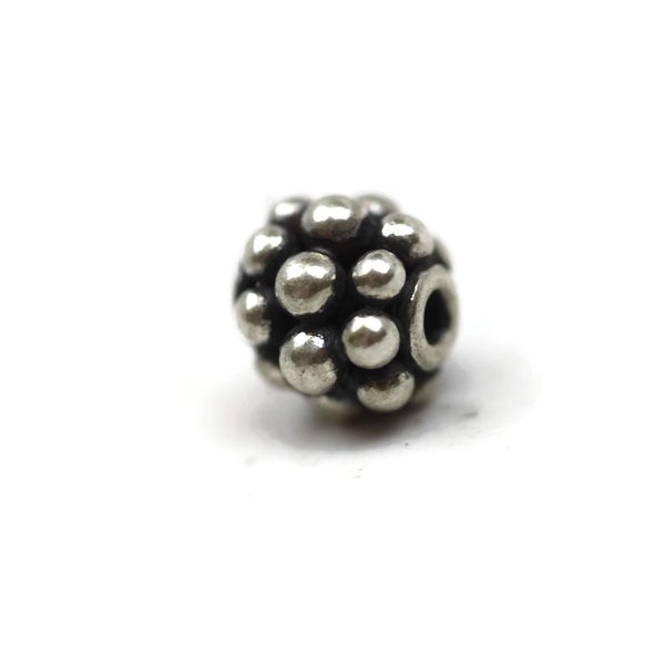 Bali Bead Sterling Silver Round Spacer Bead 5.5 x 6.5mm