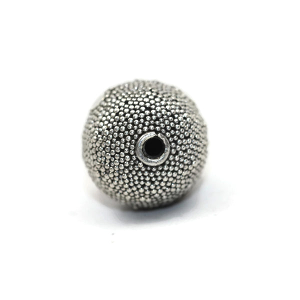 Bali Bead Handmade Sterling Silver Large Hole Round Bead 13mm