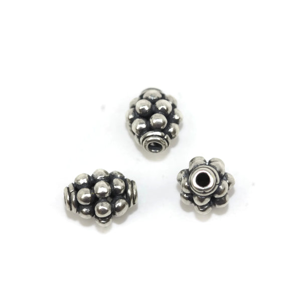 Bali Bead Sterling Silver Round Spacer Bead 8 x 6mm