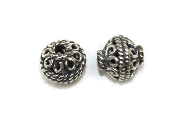Bali Bead Sterling Silver Round Spacer Bead 8mm